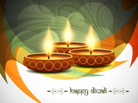 seasons greetings: religious background design for Diwali  Illustration