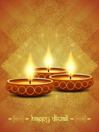traditional festival: religious background design for Diwali  Illustration