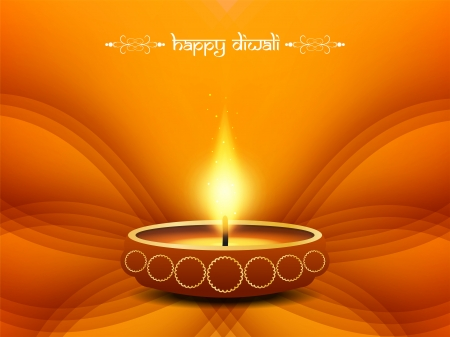 diwali celebration: religious background design for Diwali  Illustration