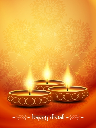 religious background design for Diwali  Vector