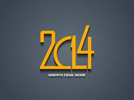 Creative happy new year 2014 design  Illustration