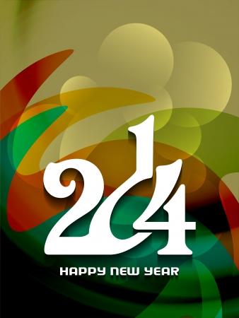 Beautiful happy new year 2014 background design