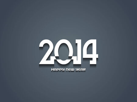 Elegant happy new year 2014 design  Vector