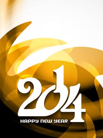 Elegant happy new year 2014 design