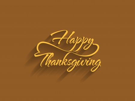 thanksgiving family: beautiful typography of the text happy thanksgiving Illustration