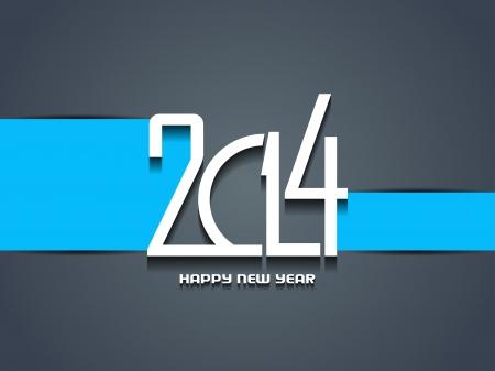 Elegant happy new year 2014 design Stock Vector - 24247236