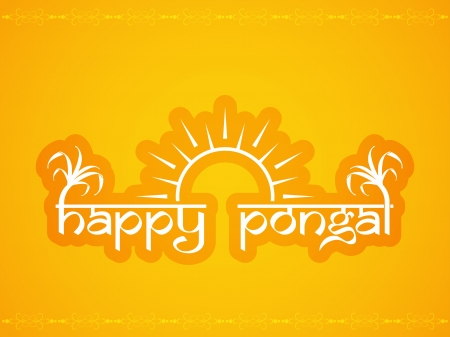 Background design for Happy Pongal  Vector
