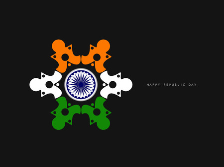 aug: Indian flag theme background  Illustration