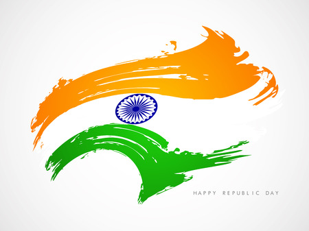 Indian flag theme background  Illustration