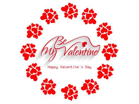 Beautiful be my valentine background  Illustration