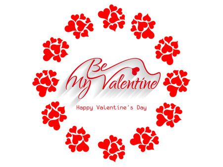 Beautiful be my valentine background  Stock Vector - 26024721