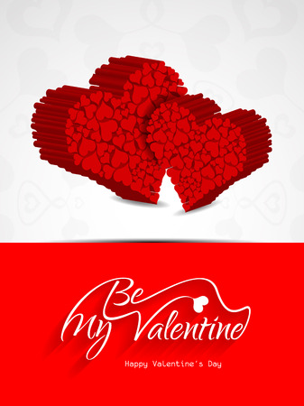 Beautiful be my valentine background  with hearts  Stock Vector - 26051235