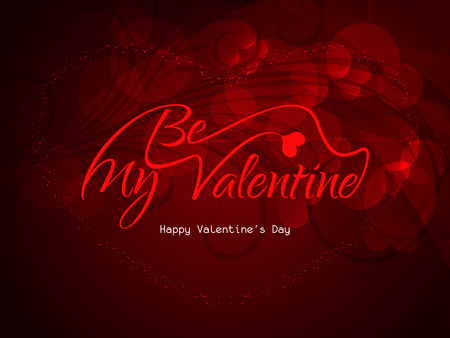 Beautiful be my valentine love background with hearts  Stock Vector - 26048994