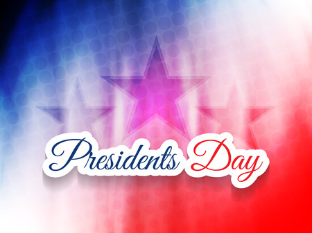 president's: american presidents day theme background design