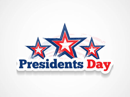 president's: american president day theme background Illustration