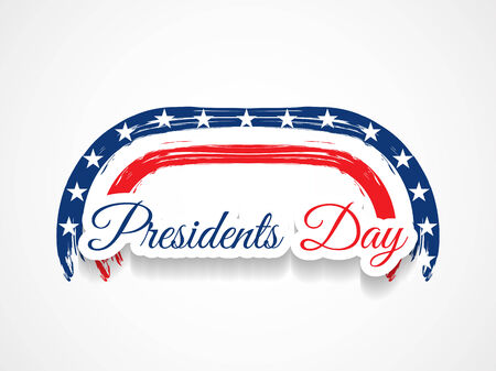 president's: american president day theme background design