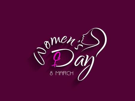 mars: Creative �l�ment de design pour le 8 mars de la journ�e de la femme Illustration