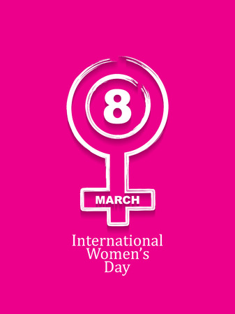 Creative design element for 8 march of international womens day