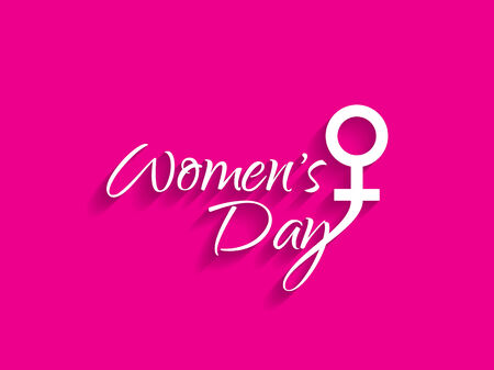 Creative design element for 8 march of international womens day Vector