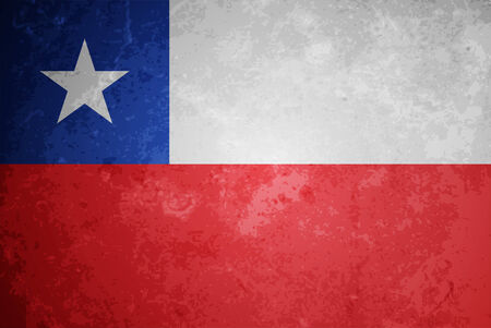 chile flag: beautiful grunge textured flag design of chile