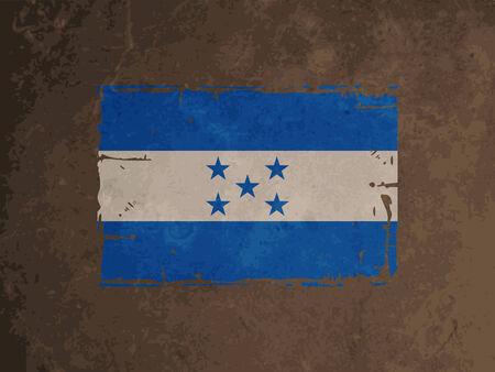 elegant vector: Design elegante vettore di bandiera di Honduras Vettoriali