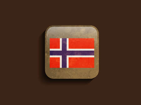 Elegant flag design of Norway Vector