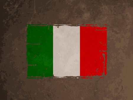 italian culture: beautiful grunge textured flag design of Italy