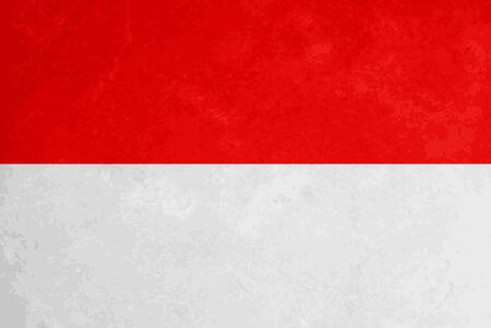 indonesia culture: Elegant vector grunge textured flag design of Indonesia
