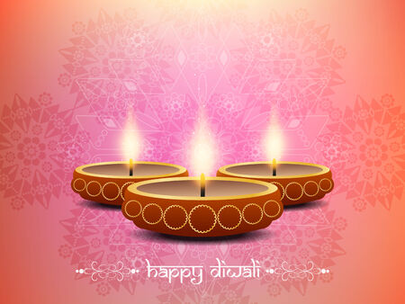 beautiful artistic background design for Diwali festival  Vector