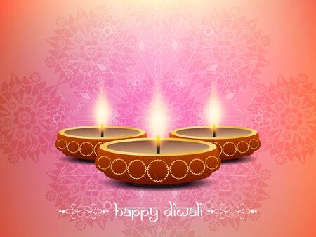 beautiful artistic background design for Diwali festival