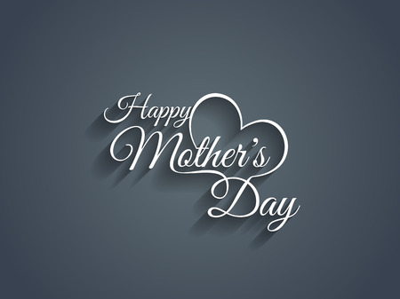 concept day: Beautiful mother s day text design  Illustration