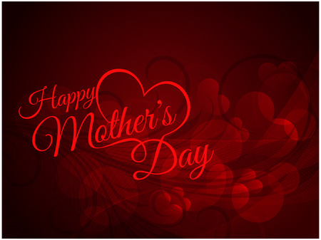 mothers day background: Beautiful mother s day Background design