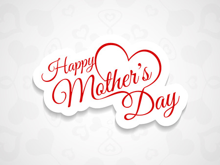 fun day: Beautiful mother s day background design