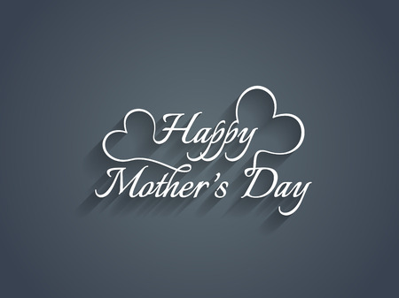 Beautiful mother s day text design  Illustration
