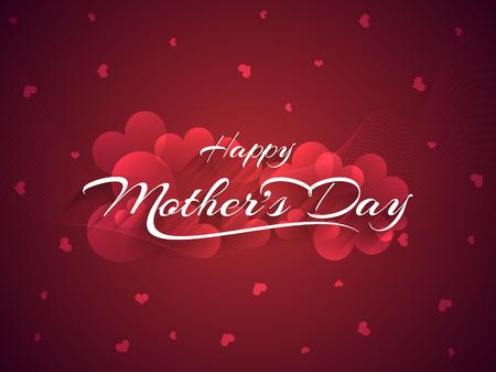 Schöne Mutter s Tag Hintergrund-Design Standard-Bild - 28054584