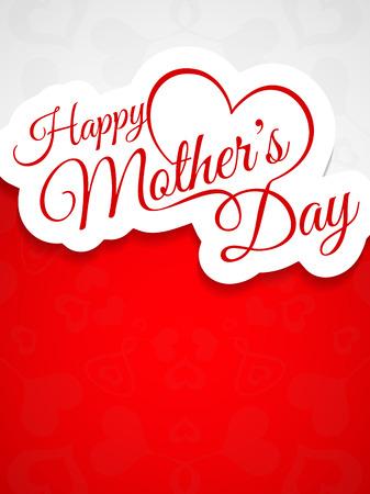 아름다운 어머니의 날 배경 디자인