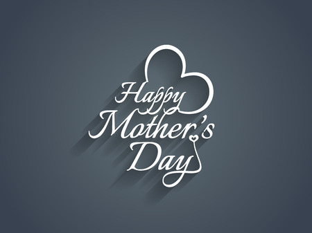 mothers day background: Beautiful elegant mother s day text design