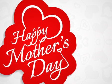mothers day background: Beautiful mothers day background design  Illustration