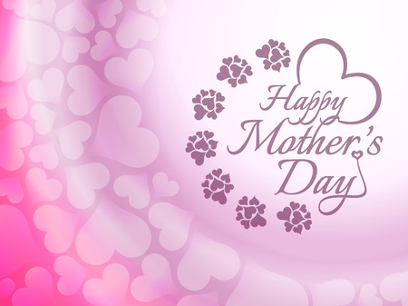 Beautiful mother s day background design  Vector