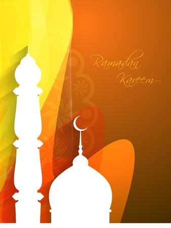Artistic ramadan kareem elegant background design Vector