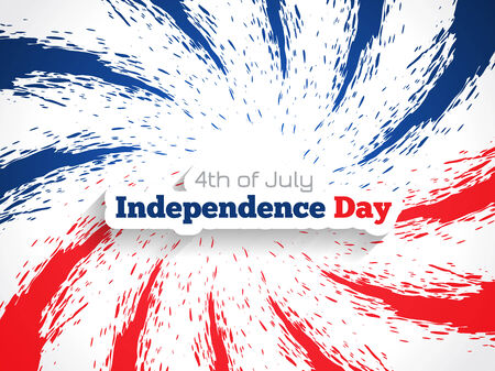 Beautiful background design for american independence day   Vector