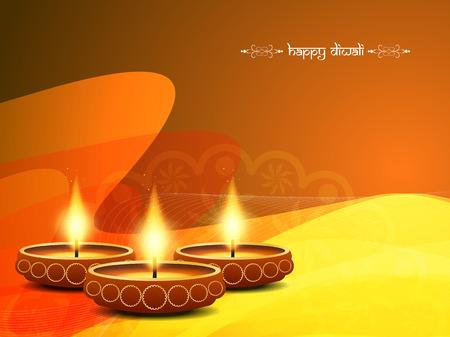 bright colorful background design for diwali festival Vector