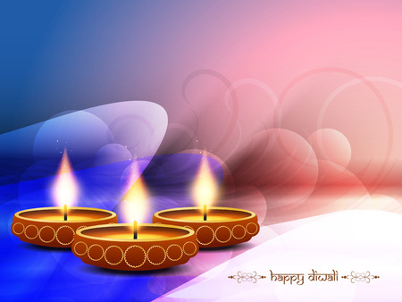 bright colorful background design for diwali festival Vector