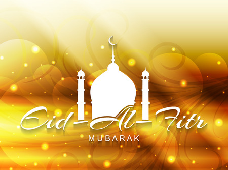 fitr: Beautiful Eid Al Fitr mubarak background design  Illustration
