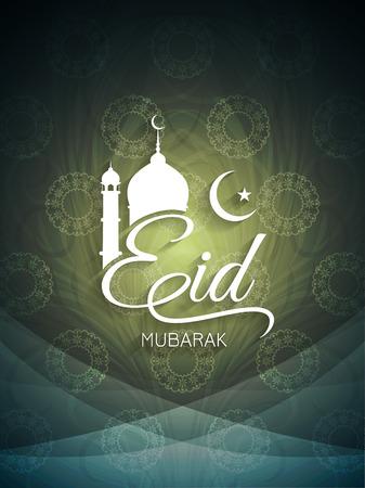 Decorative elegant Eid mubarak card design