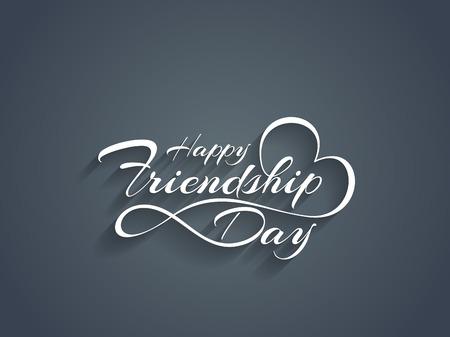 friendship day: Happy Friendship day text design