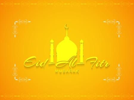 Eid Al Fitr mubarak background design Vector