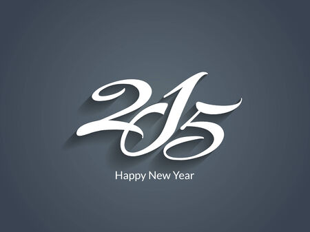 happy new year text: creative happy new year 2015 text design Illustration