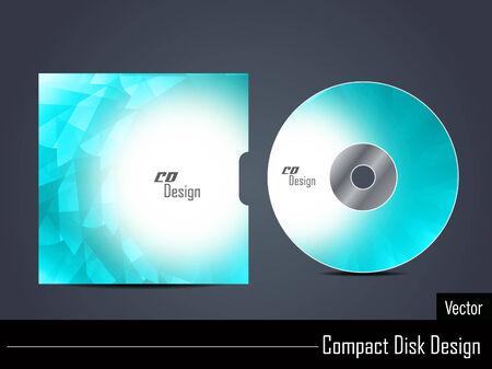 compact disk: Presentation of elegant vector cd cover design  Illustration