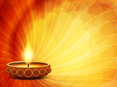 indian light: colorful background design for Diwali festival